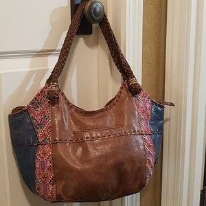 the sak leather boho Style large bags tote handbag